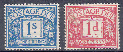 GB 1914/24 POSTAGE DUES SG: D8a + D9 MH