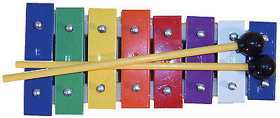 MANO PERCUSSION - Diatonic. GLOCKENSPIEL 8 coloured metal bars
