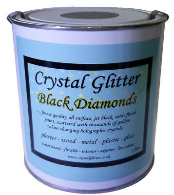 Crystal Glitter Black Diamonds magic all surface black satin glitter wall paint