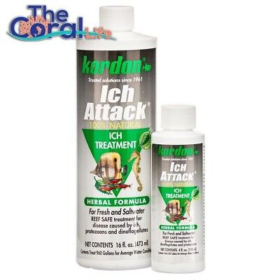 Kordon Herbal Ich Attack 16Oz Organic Treatment For Infections In Fish