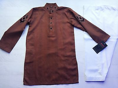 Boys Indian Bollywood Fancy Dress Costume Sherwani Kurta shirt Kaftan 6yrs+