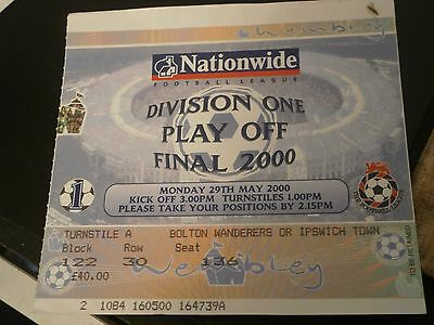 Ipswich Town v Barnsley 29th May 2000 Play Off Final Match Ticket