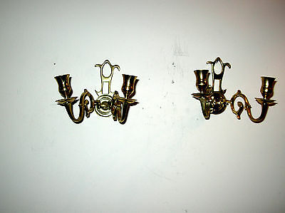 Pair Williamsburg Virginia-Metalcrafters Brush Everard Sconces