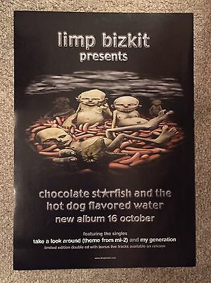 LIMP BIZKIT Import Poster (chocolate starfish & the hot dog flavored water)MINT