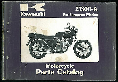 Parts Catalog KAWASAKI Z 1300 A1 / A2 Catalogue de pièces Manuel List European