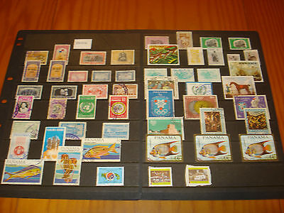 Panama  Used Stamp Collection, 1949 Onwards, Nice Little Used Lot.