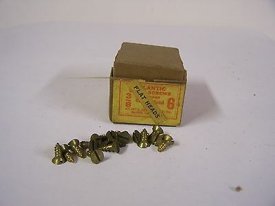 """#6 x 3/8"""" Flat Head Brass Wood Screws Solid Brass Slotted Made in USA Qty. 125"""