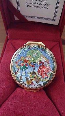 Halcyon Days Enamel Box Christmas 2005 - Original Box + Certificate