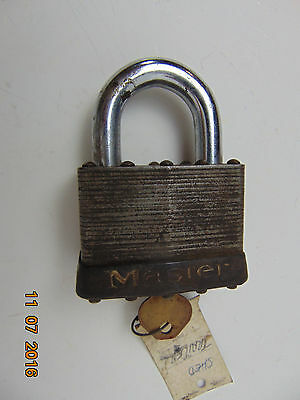 Vintage MASTER LOCK CO. #15 with key