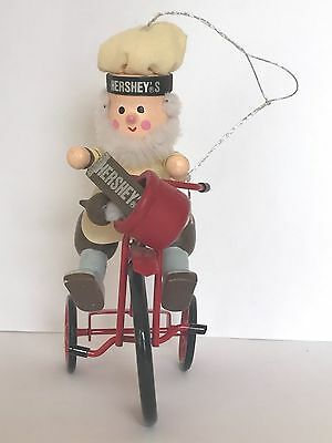❤️Kurt Adler Hershey's Collector Series ~ Elf on a Bicycle ~ 🎄1990's Ornament❤️