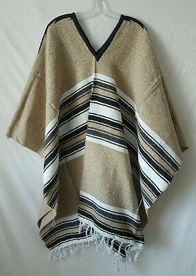 Authentic Mexican Clint Eastwood Diamond Poncho Spaghetti Western Hippie Cowboy