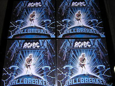 4 Ac/dc Promotional 12X12 Cards - Ballbreaker