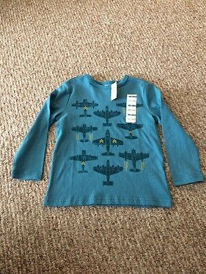Boys 4T Old Navy Long Sleeve Airplane Shirt, New, NWT. Fun!