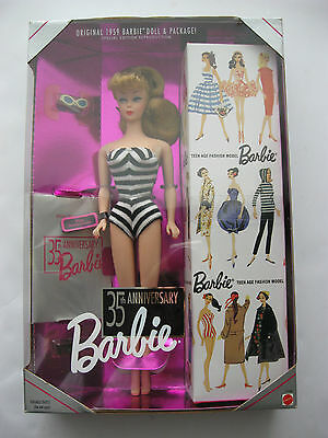 35th Anniversary Barbie Reproduction SIGNED BY RUTH HANDLER 1994 NRFB