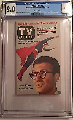 SUPERMAN - GEORGE REEVES TV GUIDE Vol 1 No 26 - 1953 HIGHEST GRADED CGC 9.0.