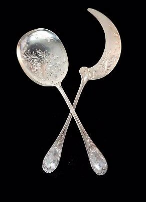 Puiforcat Sterling Silver 950 Ice Cream Servers Rococo Pattern, France 1880s