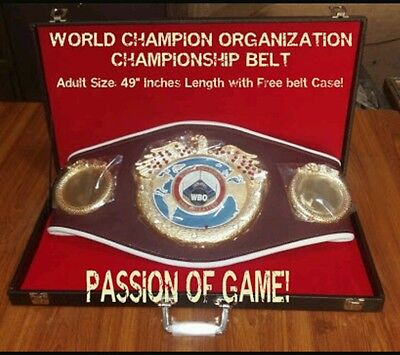 WBO Championship boxing Belt Replica Adult size 49 Inch With belt  Case
