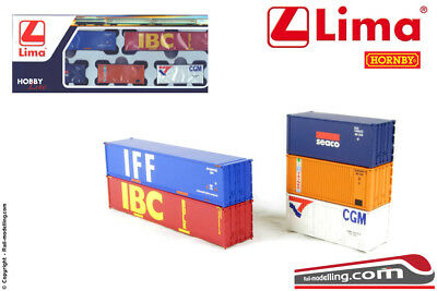 LIMA HL8002 - H0 1:87 - Set 5 container 2 lunghi 40ft + 3 corti 20ft