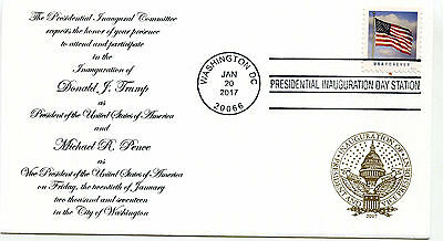 2017 Donald J Trump Panda Cachets, design 2, Invitation  Inauguration Day Cover
