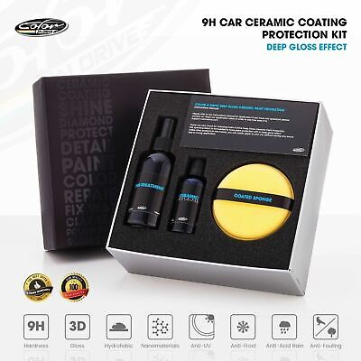9H Car Ceramic Coating Paint Protection Kit - Color N Drive Deep Gloss