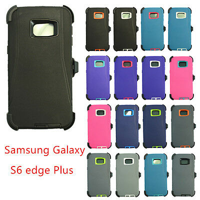 Defender Case Cover for Samsung Galaxy S6 Edge Plus + w/(Clip fits Otterbox