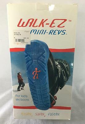 Youth Walk-EZ Mini Revs Ski Boot Heel Protectors Blue Size Medium NEW