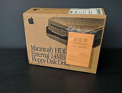 Apple HDI-20 floppy drive, Brand new in box, from Apple Japan!