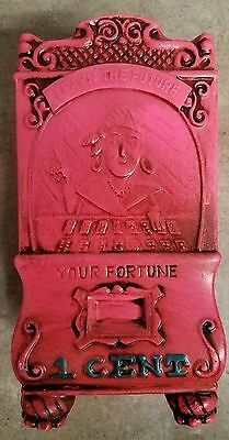 """Vintage Learn The Future Gypsy Fortune Teller 1 Cent Plaster Money Piggy Bank 7"""""""