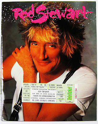 "Rod Stewart Out of Order 1984 Tour Book 10"" x 12""  with TICKET! NEAR MINT"