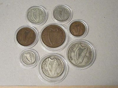 1928 Irish Free state: a complete set of first issue coins