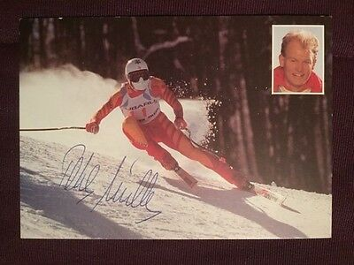 Peter Muller Olympics Skiing Slalom Super G Autographed Signed Photo