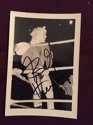 Bobby The Brain Heenan Vintage Candid Wrestling Autographed Signed Photo IP