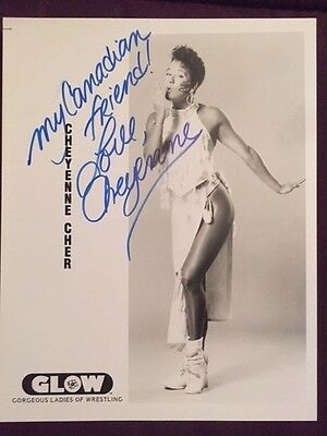 Cheyenne Cher GLOW Wrestling Autographed Signed Photo IP