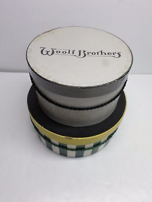 """Vintage """"WOOLF BROTHERS"""" HAT BOXES - Lot of Two (2)"""