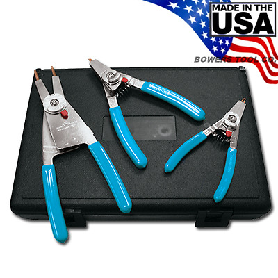 Channellock Convertible Reversible Retaining Ring Plier Set 3pc Snap Ring RT-3