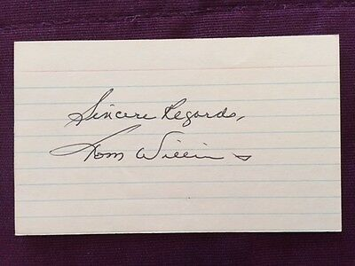 Tommy Williams NHL Hockey Vintage Signed Index Card