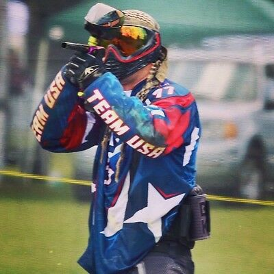 New Signed Team USA Pro Paintball Jersey  Size XL LP 77