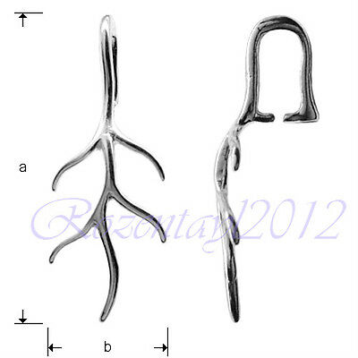 Sterling Silver Pendant Bail Jewellery Finding Loop for Swarovski Elements*A023