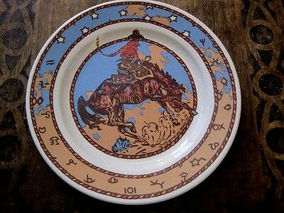 Homer Laughlin Pipeline China Cow Camp Buckeye Blake Cowboy Western Diner Plate