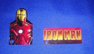 RARE NEW OFFICIAL Stern Iron Man Pinball VE Vault Edition 2 Plastic Keychains!