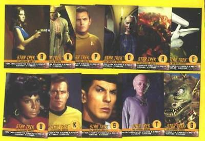 All 3 Skybox Star Trek Tos Auto Autograph Challenge Set Lot (34) Nimoy Shatner