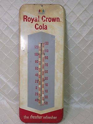 Royal Crown Cola Thermometer 1960s Advertising Sign RARE