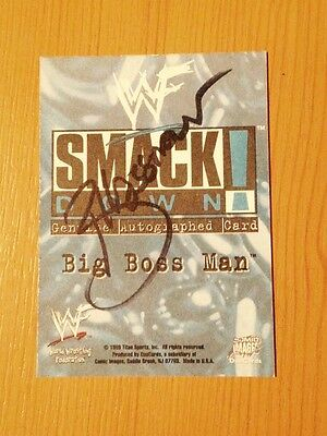 Wwe wwf the big bossman signed autographed wwf superstarz topps official card