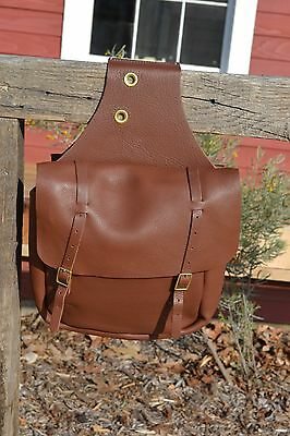 Weaver Soft Brown Chap Leather Saddle Bags - 2 Buckle
