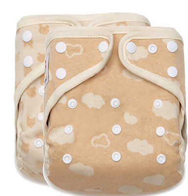 60 KaWaii Baby Naturally Colored Organic Cotton One Size Cloth Diaper Shells