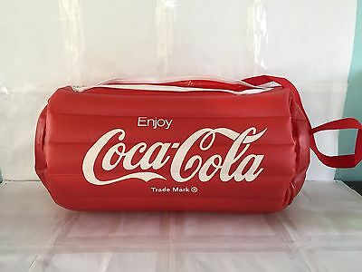 Inflatable Coca Cola Coke Red White Duffel Bag Exc Cond Advertising