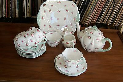 "Shelley - ""Rosebud"" Tea Set - #13426 - Dainty Shape"