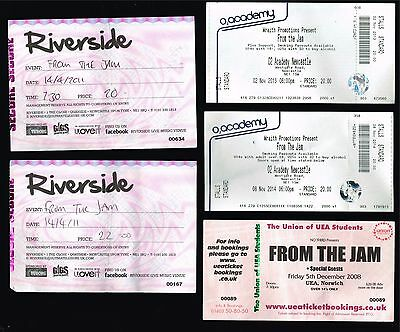 Concert Ticket Stub Lot Of 10 The Jam