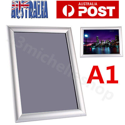 A1 A2 Aluminum Snap Poster Frame Click Picture Frame Sign Holder Menu Display