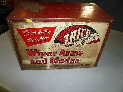 VINTAGE 60s GAS STATION Trico WIPER DISPLAY PARTS CABINET - Counter top - Sign